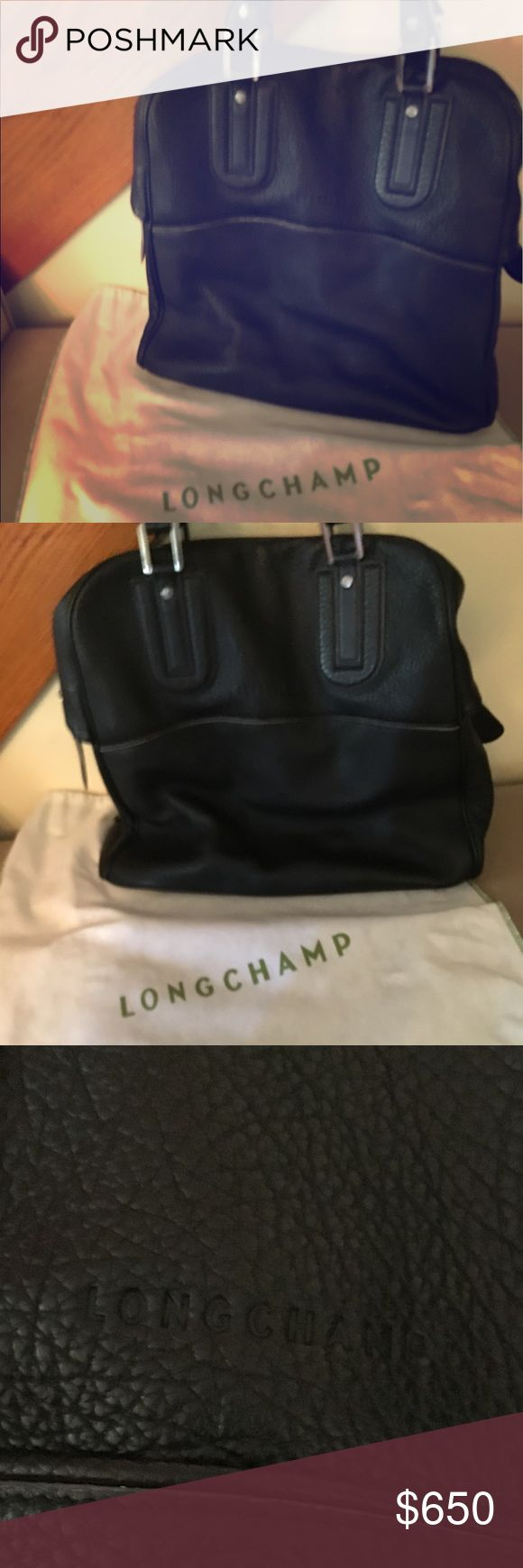 Super roomy Longchamp leather Cosmos bag I adore this bag and use it as a carry on. Despite using it 5 or 6 times it's still in excellent condition - no leather scratches or stains to inside. I'm not entirely sure I want to sell it, but will consider for the right price. Longchamp Bags