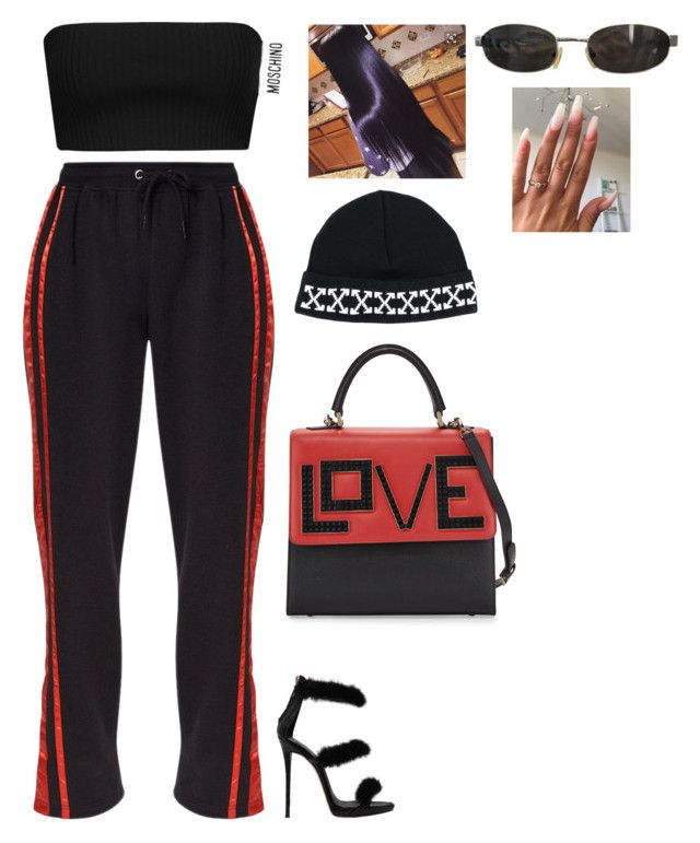 """""""."""" by colormegourgeous ❤ liked on Polyvore featuring Moschino, Giuseppe Zanotti, Off-White, Tom Ford and Les Petits Joueurs"""