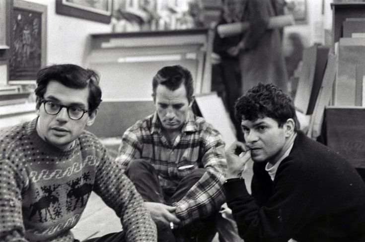 Allen Ginsberg, Jack Kerouac, and Gregory Corso in Greenwich Village by Bruce Davidson
