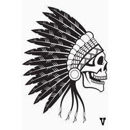Inidan Chief Skull  Väggdekor  40x54cm