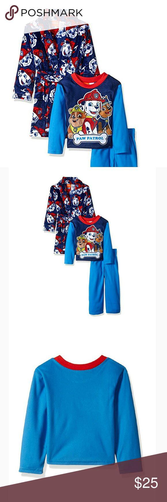 Paw Patrol Robe & Pajama Set Brand new with tags Paw Patrol fleece robe and pajamas. Your little Paw Patrol fan will love it!!! Sizes 6-7 and 8-9 available. Nickelodeon Pajamas Pajama Sets