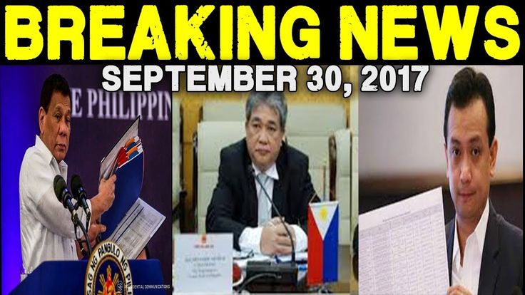 BREAKING NEWS TODAY SEPTEMBER 30 2017- PRESIDENT DUTERTE I DEPUTY OMBUDS...