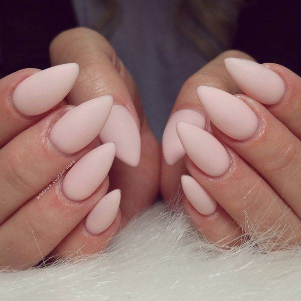 25 best ideas about matte almond nails on pinterest