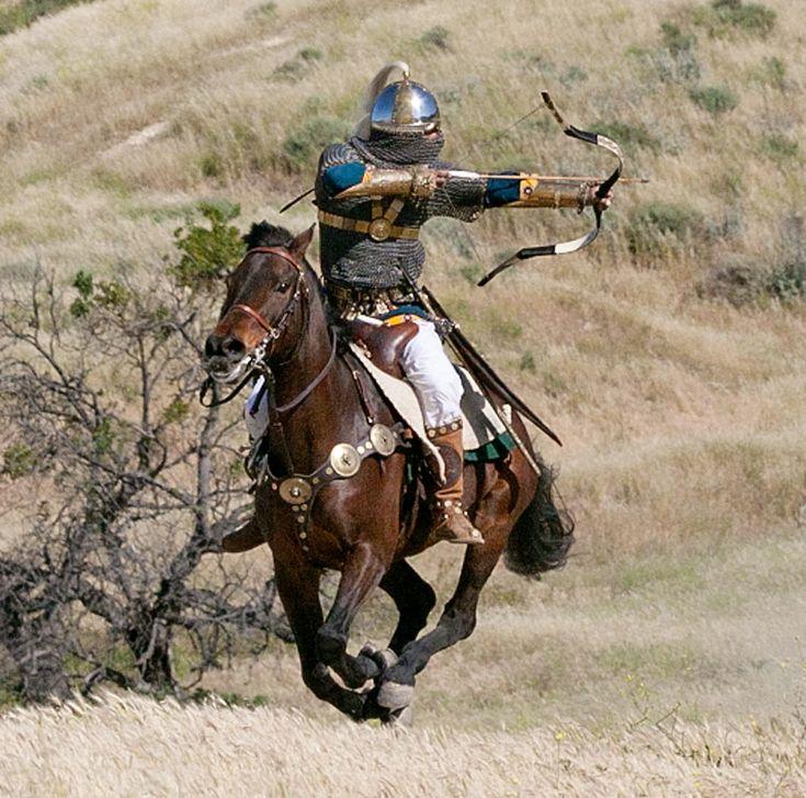 """Sassanian Archer in Four Horn Saddle"""