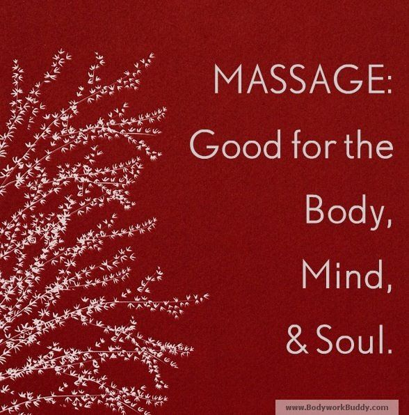 Massage = good