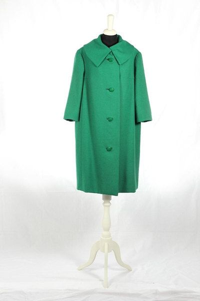 1960 cappotto Vintage verde