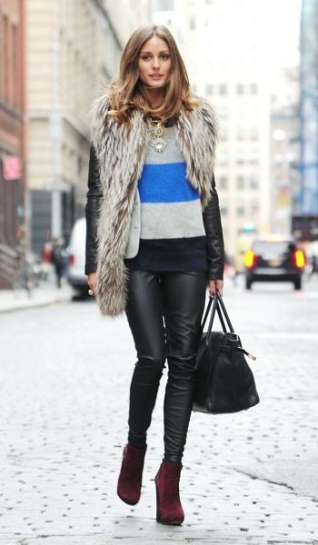 Olivia Palermo does layering the right way