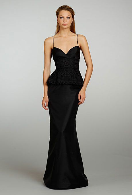 Noir Bridesmaid Dresses | Style 3336 Noir by Lazaro Bridesmaid Dress - Sleeveless Satin Sheath ...