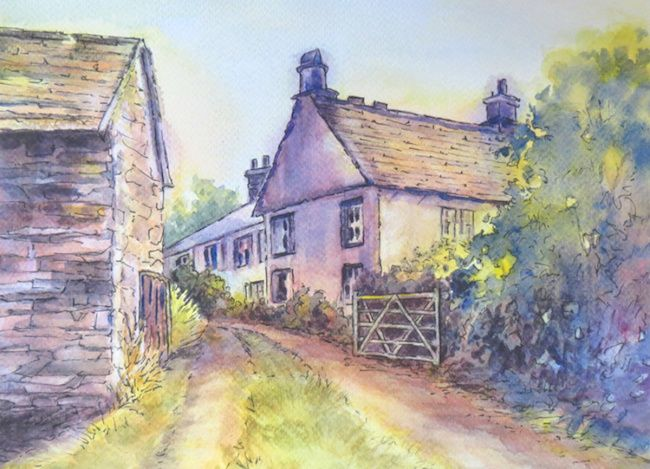 "September 2016 ArtTutor Challenge Winner - ""Old Country Lane"" by Gill Farquharson"