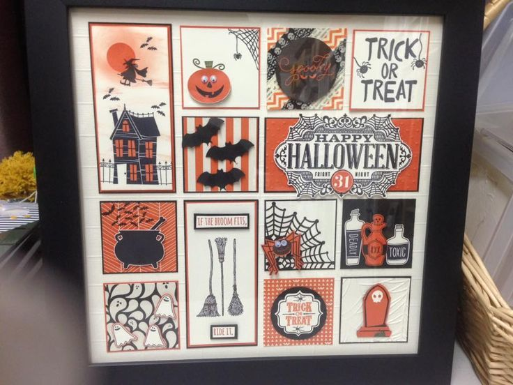 My Stampin'Up! Halloween Sampler Frame 2015