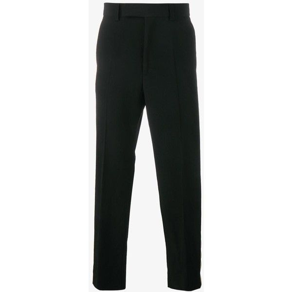 Gucci tailored wool trousers ($845) ❤ liked on Polyvore featuring men's fashion, men's clothing, men's pants, men's dress pants, mens striped pants, mens white dress pants, mens wool pants, mens white pants and gucci mens pants