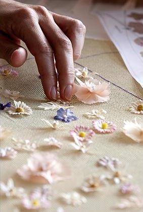 mini flower. Dior at Harrods - Mini Fashion Theatre