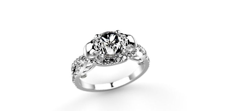 Skull Engagement Ring 14k White Gold Skull Ring 14k Goth Engagement Ring Goth Ring Skulls Ring White Gold Skeleton Ring Diamond Alternative by ShineSwapCustomRings on Etsy https://www.etsy.com/listing/255696924/skull-engagement-ring-14k-white-gold