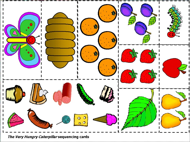 the very hungry caterpillar sequencing cards