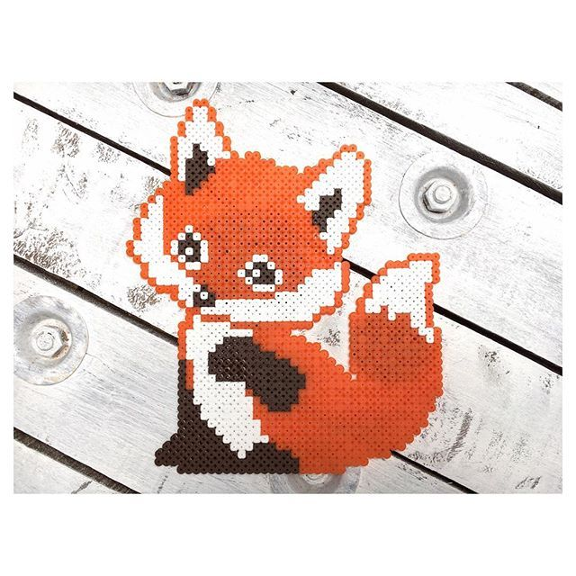 Fox hama beads by dassommersprossenmaedchen