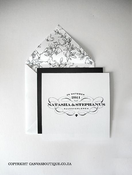 Wine estate wedding invitations - Canvas Stationery Boutique