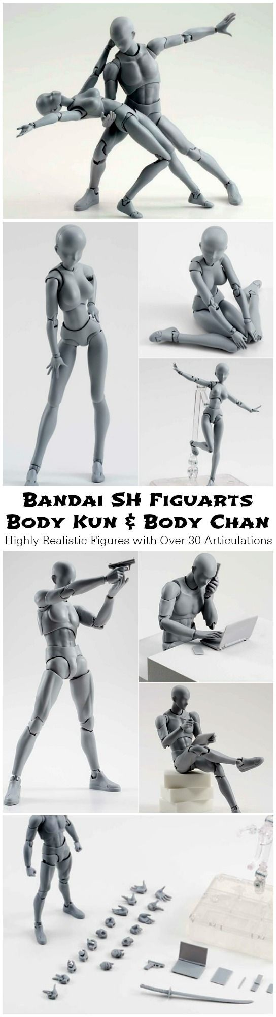 SH Figuarts Body is a highly realistic, articulated figure created with the artist in mind. Over 30 articulated joints make it easy to create desired pose.