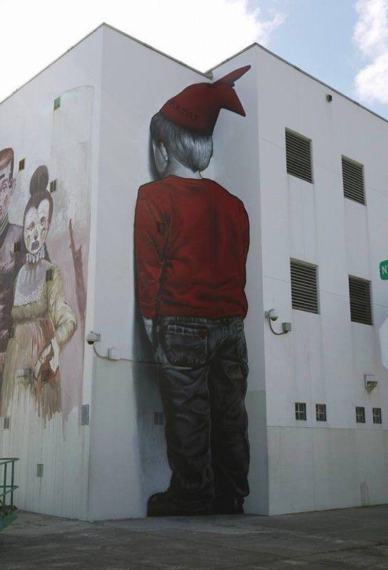 « No Art for Poor Kids » est le dernier mur peint par MTO, en plein coeur du quartier de Wynwood (Miami) à l'occasion du Art Basel 2014.