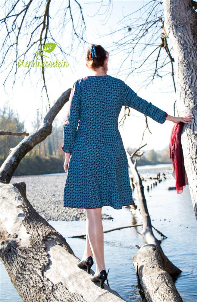 "Sewing Pattern ""Karlotta"" by So!Pattern, fabric ShweShwe by Karlotta Pink"