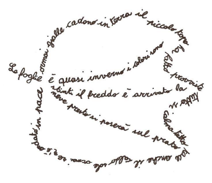 calligramma semplici - Cerca con Google