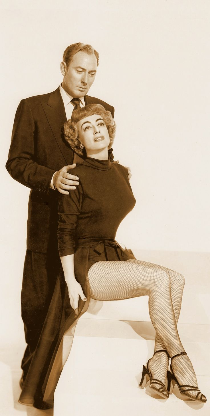 JOAN CRAWFORD & MICHAEL WILDING in TORCH SONG (1953) Joan as hard-nosed self-possessed Broadway diva Jenny Stewart & her blind pianist & arranger (Michael Wilding) Vintage still  DETAIL (please follow minkshmink on pinterest)