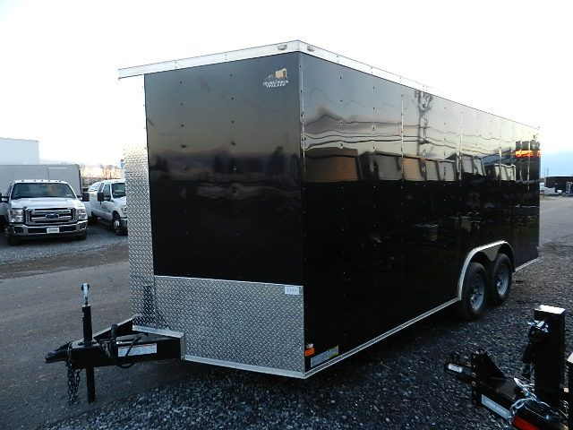 Covered Wagon 8.5 x 18 Enclosed Car Trailer – Ramp Door