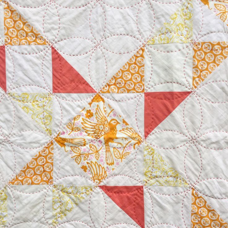 orange peel chunky quilted through all layers  -   I realized I never shared pictures of the quilt in yesterday's post, and today's #igquiltfest