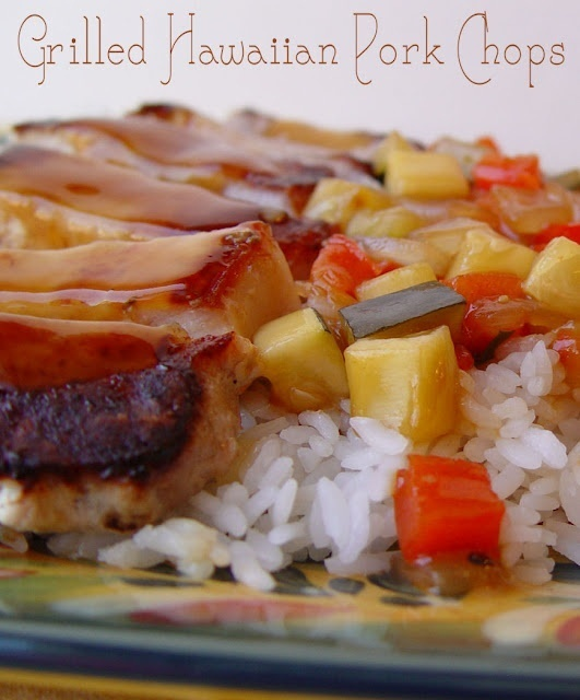 Summer recipe: Grilled Veggies, Grilled Hawaiian, Porkchops, Pork Chops Recipe, Summer Recipe, Grilled Tips, Summer Bbq, Boneless Pork Chops, Hawaiian Pork