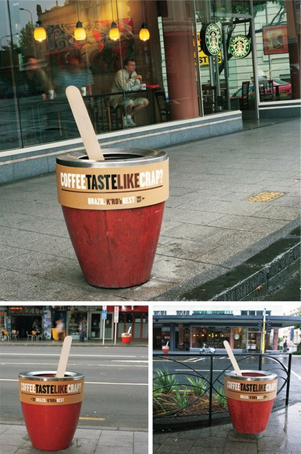 Креативная реклама кофе Бразилия