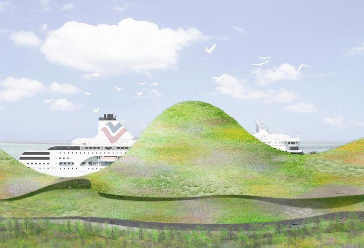 石上純也のチームによる台湾の金門港フェリーターミナル設計コンペの勝利案   architecturephoto.net   ひと月の訪問者数総計32万・ページビュー132万の建築・デザイン・アートの新しいメディア。アーキテクチャーフォト・ネット