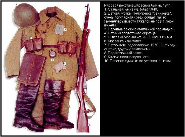 Рядовой пехотинец, Красная Армия, 1941