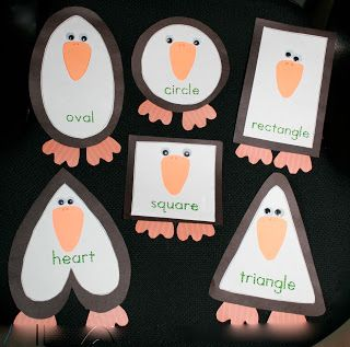 Art Activity: Silly shaped penguin craft! Great for teaching shapes as well as being crafty!