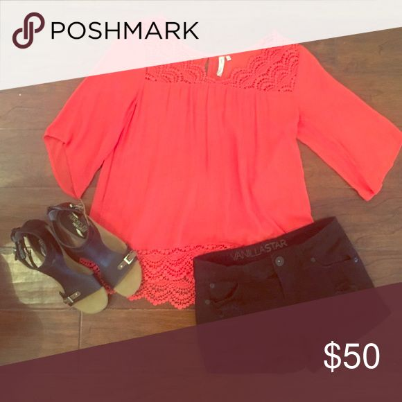 Adorable outfit!!!! Brand new coral shirt, black shorts and brand new Aerosole shoes!!!  Top by red camel, shorts by vanilla star Macy's Other