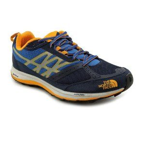 The North Face Ultra Guide Trail Running Shoe - Men's Cosmic Blue/Koi Orange, 10.0 by The North Face. $109.95. Weight per pair: 1 lb 3 oz. synthetic. C-Delta metatarsal fit system. Abrasion-resistant, tight weave-mesh. Tongue scree collar. TPU-welded midfoot support. A rugged yet lightweight off-road running shoe built to tame the roughest trails.