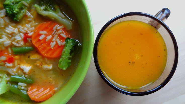 Zupa (prawie) krem z dyni - Niebieskoszara - fit blog młodej mamy