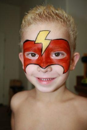 face paint mask superman - Google Search