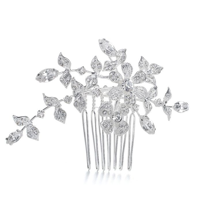 'Liliana' Comb/Brooch with Crystal Garden Bridal  Hair Comb - Item No: 1073H-S