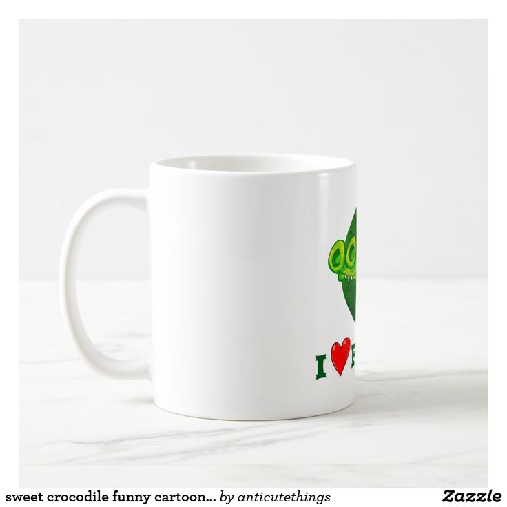 sweet crocodile funny cartoon i love florida #mug #cartoon #funny #illustration #office #florida #state #usa #gift #giftideas #cartoon