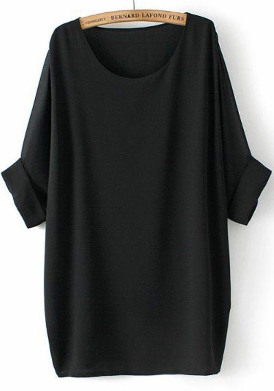 blusa Chiffon negra