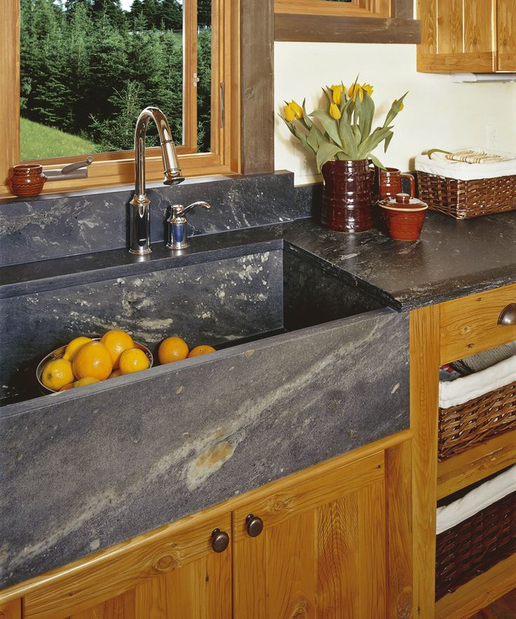 Tulikivi soapstone countertop and sink.