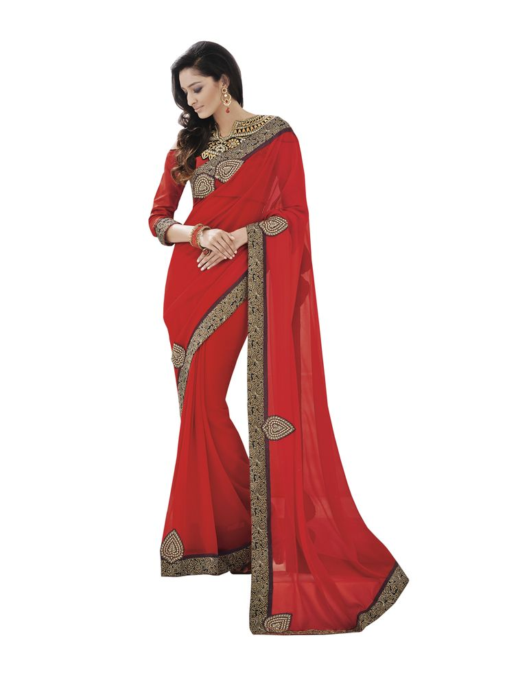 @Royal Wine Georgette Designer Saree Pricing Call Us or What's App Us on :- +91 99099 59528 Please Visit Our Site:=> #www.sareemall.in Email Us on:- support@sareemall.in