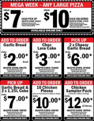 Latest Coupons until 01/11 @ Domino's Pizza