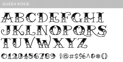 Queen card font fonts pinterest tattoo name fonts for Traditional tattoo fonts