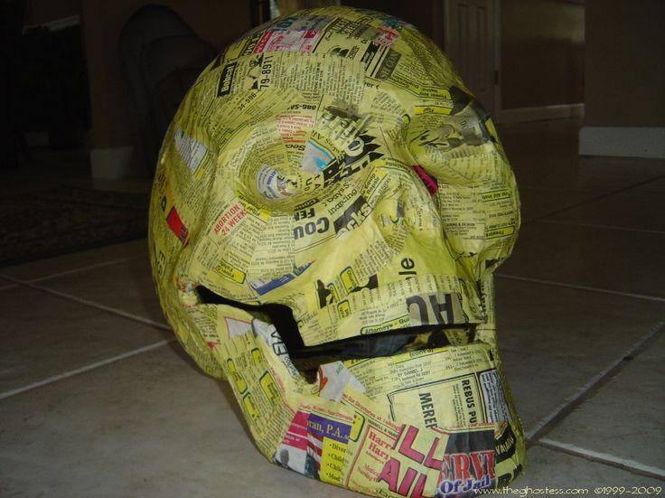 Good visual for paper mache skulls for my favorite for Buy paper mache glue