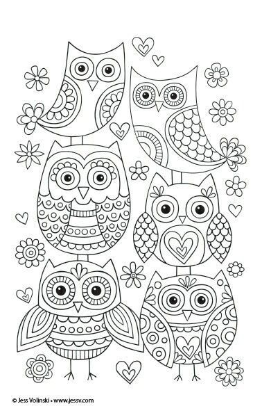 Cute owls you can draw at home! You can use them f…