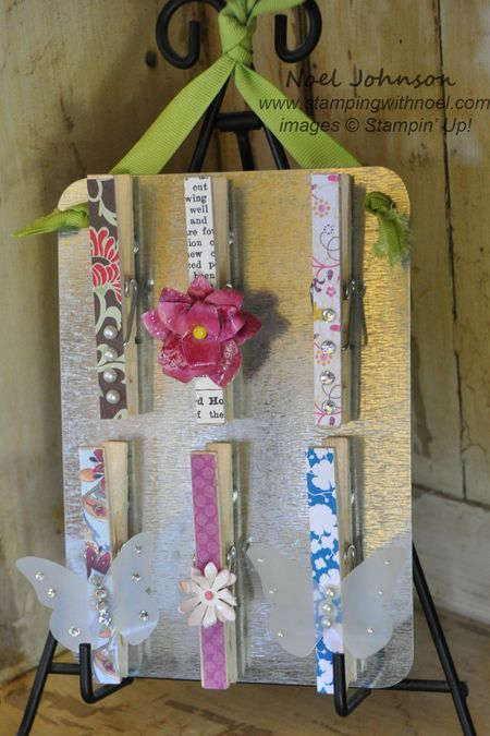 Scrap paper clothespin magnet craft show ideas for Mini clothespin craft ideas