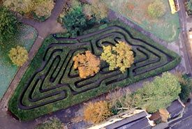 Hedge Maze at Hampton Court. My dad had read somewhere that if you place and keep your hand on a maze wall and follow that wall you'll make your way out without getting lost. Mom and I scoffed. Guess who was waiting on a bench outside the maze when we finally got out....