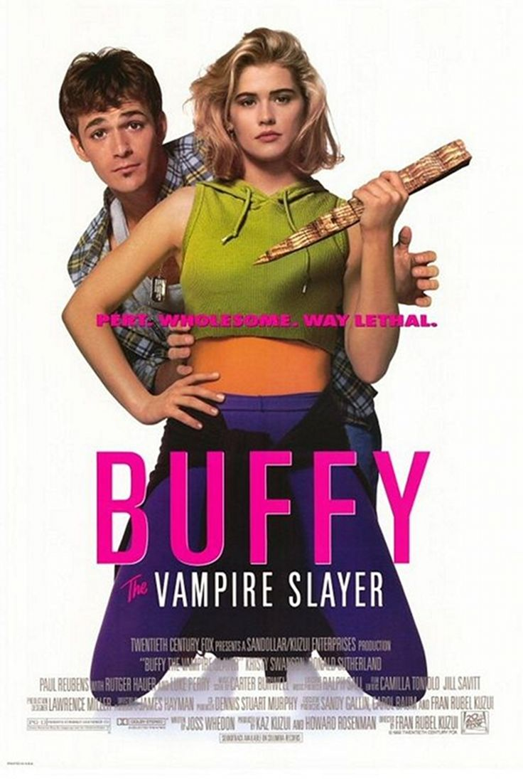 Buffy the Vampire Slayer movie, 1992 - Kristy Swanson and Luke Perry  Love Paul Reubens in this!