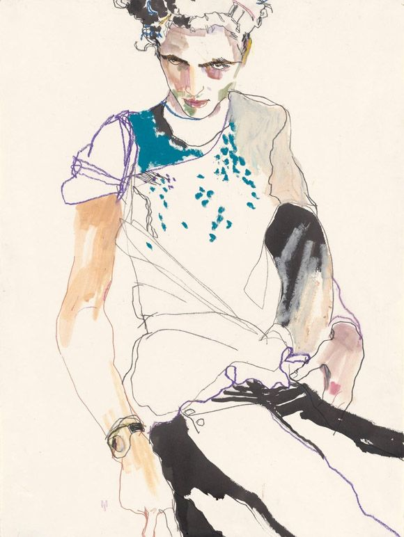 Fashion Illustration by Howard Tangye, pinned by Modeconnect.com  #RePin by AT Social Media Marketing - Pinterest Marketing Specialists ATSocialMedia.co.uk