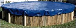 Pro Strength winter pool covers for above ground swimming pools with 8-year warranty. This pool cover is long lasting, durable and strong. Winter pool covers from In The Swim protect your pool.